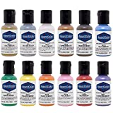 Americolor 12-Color Sheen Airbrush Color Kit, .65-Ounce, Pearlescent