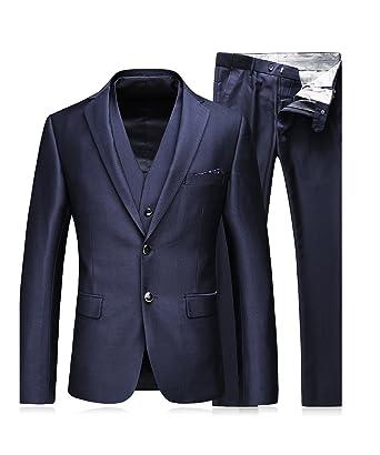MOGU - Traje - para Hombre Azul Azul Marino 36: Amazon.es ...