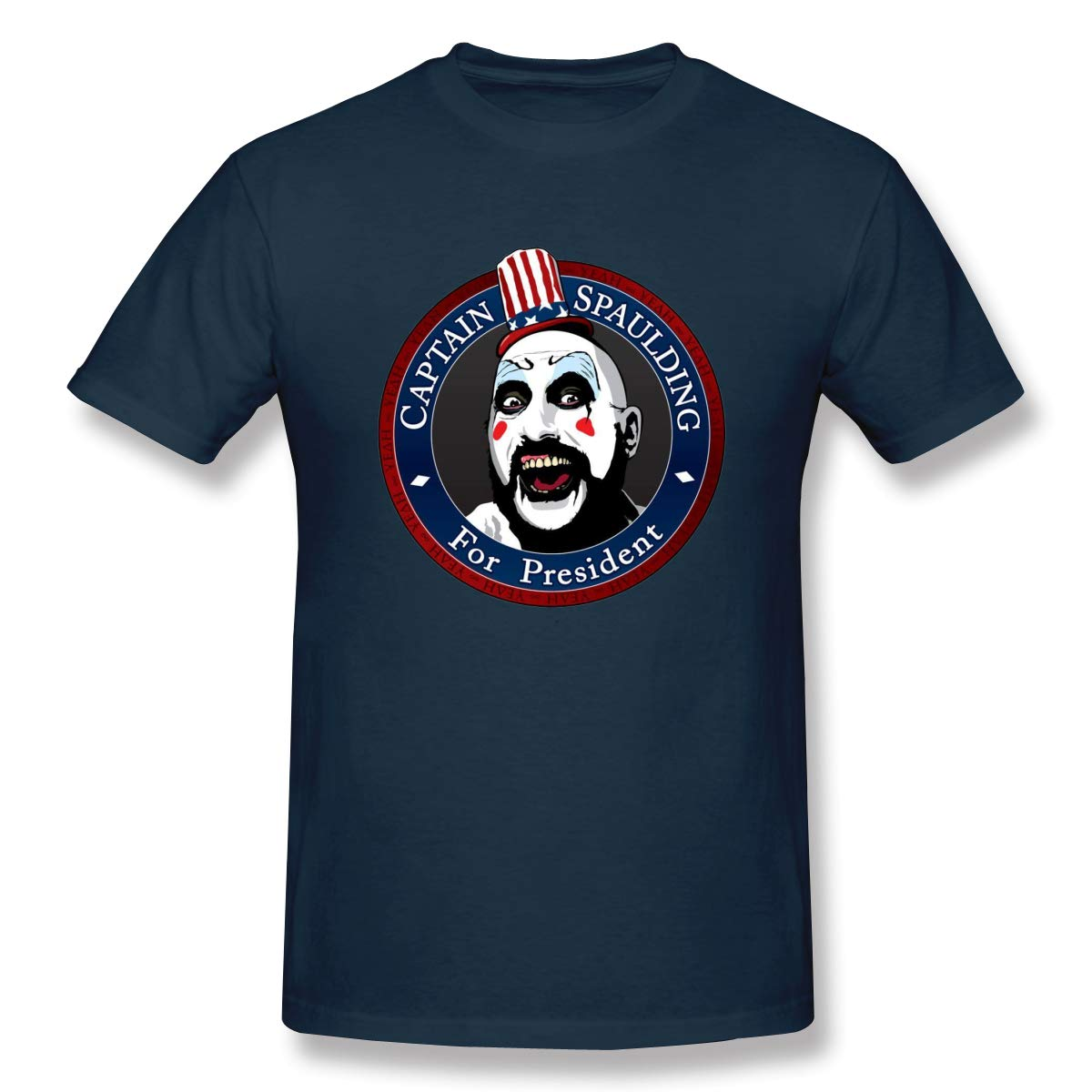 Gallagher Captain Spaulding For President Casual T Shirt Short Sleeve Tee For
