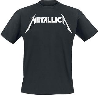 Metallica Textured Logo T-Shirt Nero