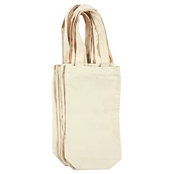 Wine Tote Bags u2013 6-Pack Wine Carrying Bag Set Ideal Bottle Gift Bags  sc 1 st  Amazon.com & Amazon.com | Wine Tote Bags - 6-Pack Wine Carrying Bag Set Ideal ...