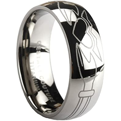 Amazon Com Unique Claddagh Ring Solid Titanium By Gestaltcouture