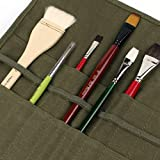 22 Slots Artist Paint Brush Roll Up Bag Holder