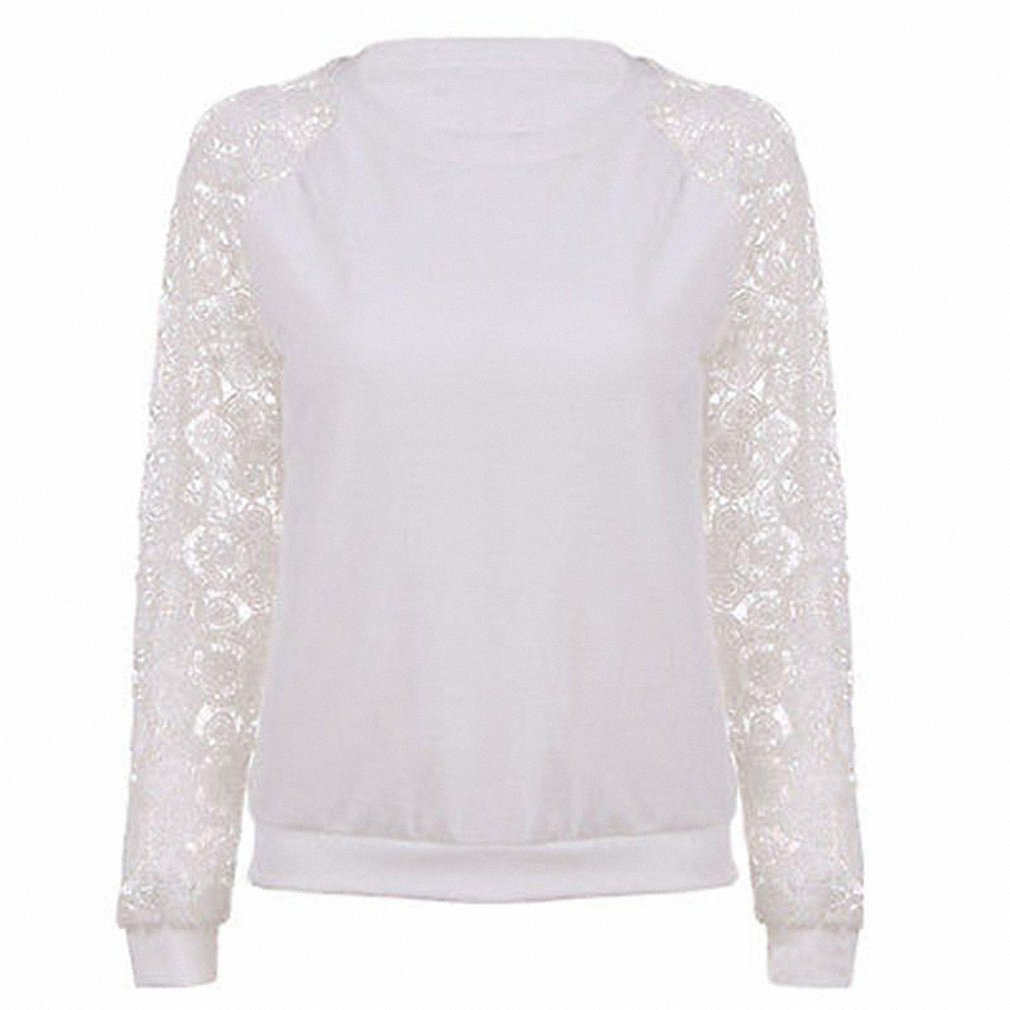 Lace Hoodies Sweet Casual Sweatershirt Women Long Sleeve Pullover Knitwear White Female