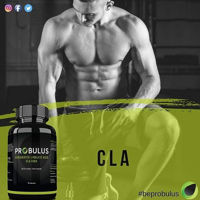 CLA de Probulus - Suplemento de ACIDO LINOLEICO CONJUGADO. 1000 mg de ácido linoleico por cápsula (60 cápsulas). Suplemento dietético Omega 6 100% natural ...