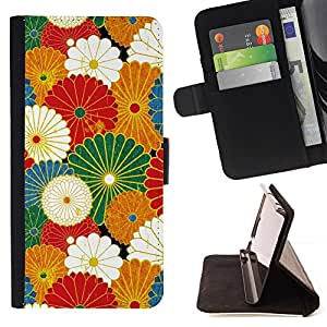For Samsung Galaxy S5 Mini (Not S5), SM-G800 Case , Rustic Vintage Wallpaper verano- la tarjeta de Crédito Slots PU Funda de cuero Monedero caso cubierta de piel
