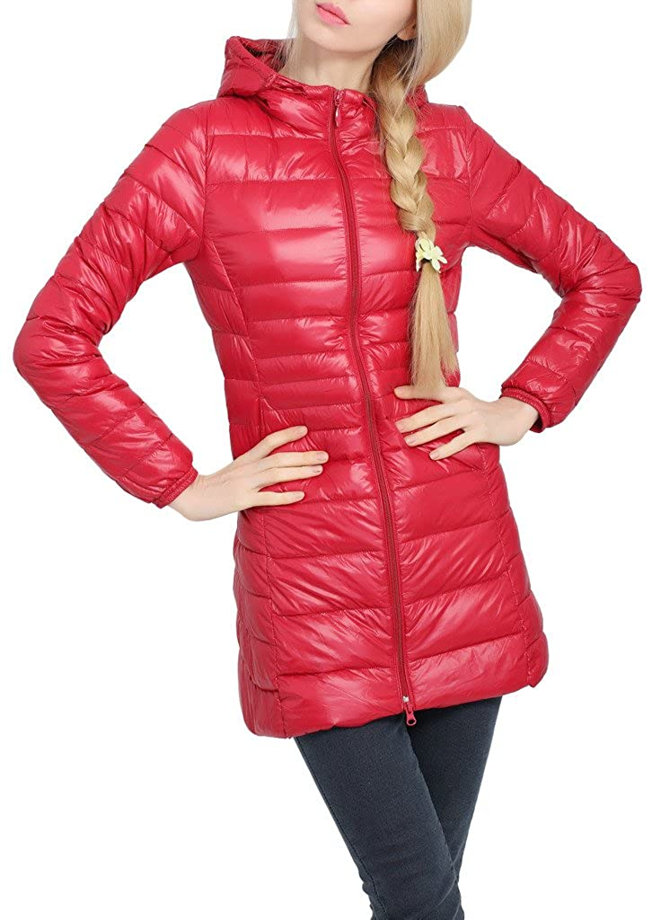 HengJia Women's Hooded Packable Down Puffer Coat Lightweight Down Winter Jacket HengJia Trading Co. Ltd