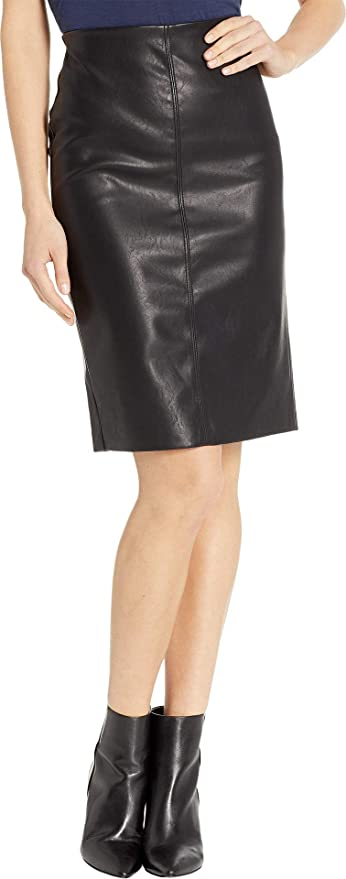 ed0e1f501c Blank NYC Women's Vegan Leather Pull-On Pencil Skirt in Schooled-Black  Schooled-Black 28 at Amazon Women's Clothing store: