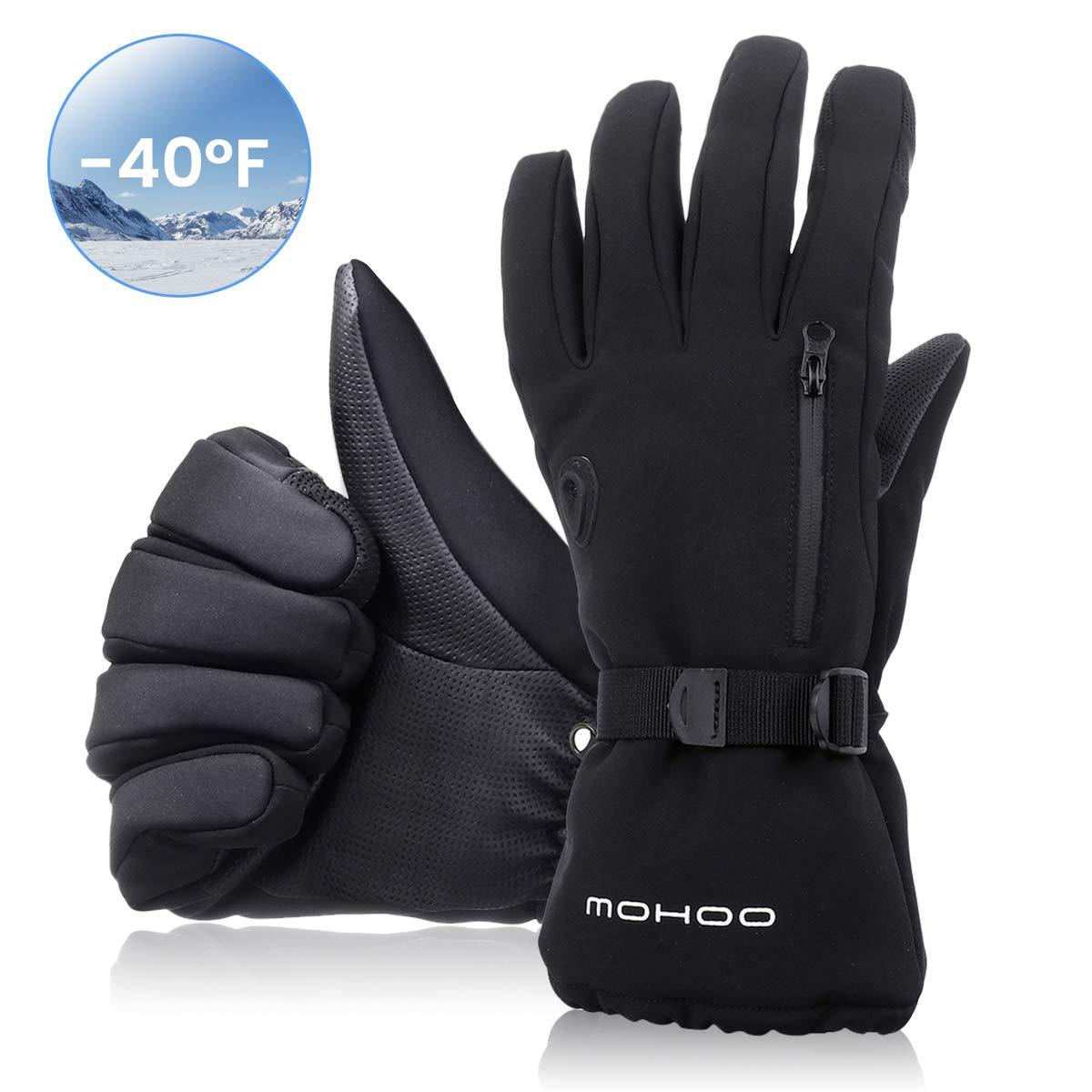 MOHOO Winterhandschuhe Herren Damen Skihandschuhe Wasserdicht Fahrradhandschuhe,Touchscreen Sporthandschuhe Thermische Warm und Atmungsaktiv f/ür Schnee Outdoor Motorradfahren Radfahren Wandern