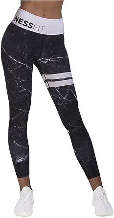 e97da01e400e67 NESSFIT® Women's Fitness High Waist Leggings Workout Tights Compression Gym  Yoga Comfortable Pants Full Length