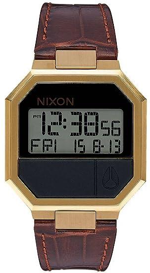 Nixon Reloj Adultos Unisex de Digital con Correa en Cuero A944-849-00: Nixon: Amazon.es: Relojes