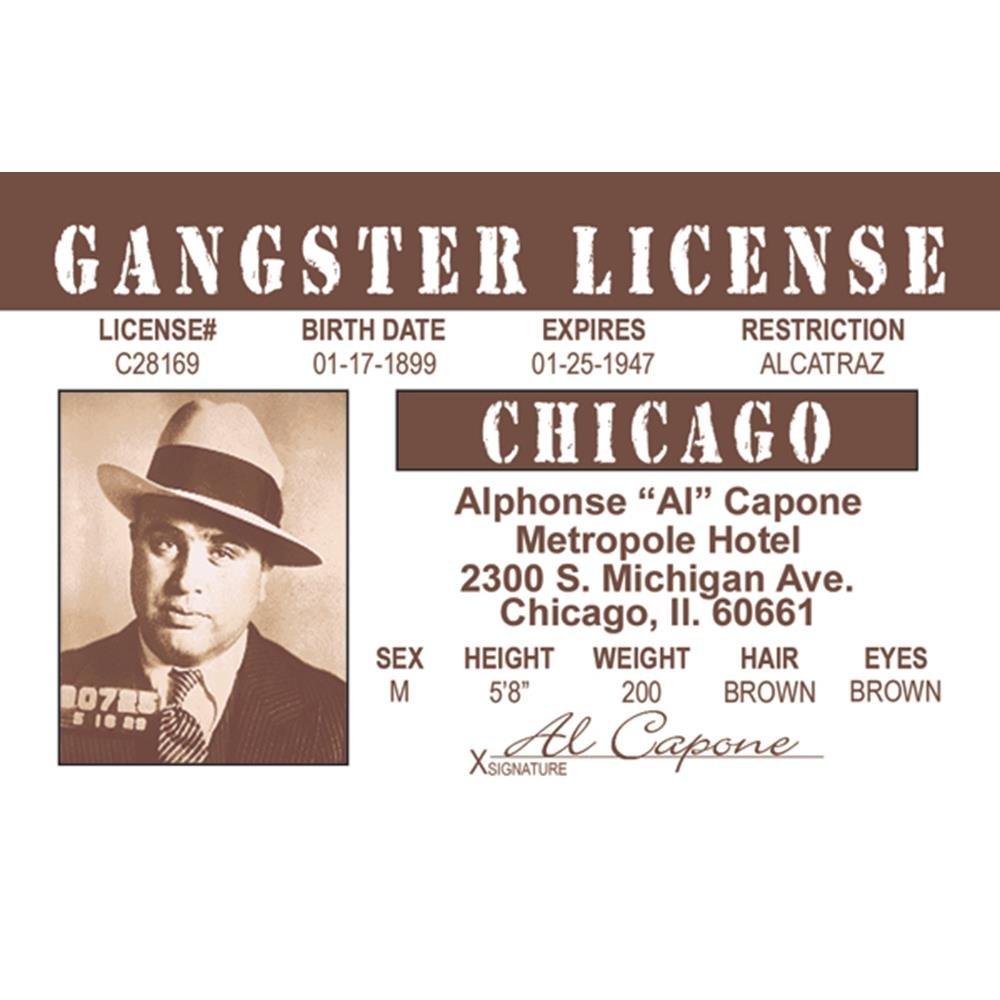 Signs 4 Fun Nacid Al Capones Drivers License