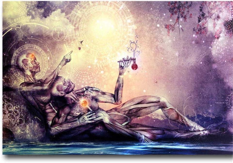 Alex Grey Psychedelic Trippy Abstract Silk Poster Art Print Silk Cloth 60x 90cm!