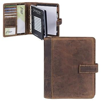 Greenburry - Agenda Agenda A5 piel vintage antiguo marrón ...