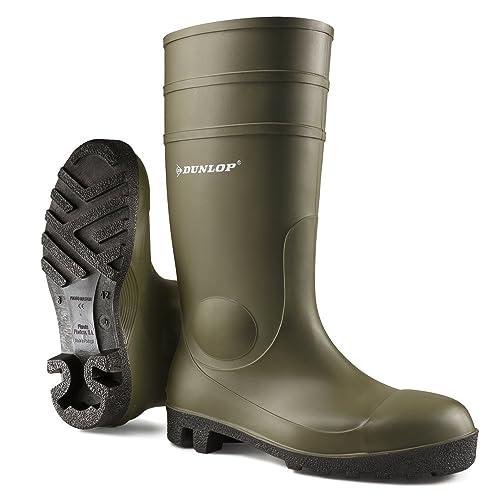Baugewerbe Dunlop Dee Gummistiefel Arbeitsstiefel Boots Stiefel Pvc-sohle Grün Business & Industrie