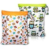 BONTIME Wet Bag for Cloth Diapers - Double Pockets &...