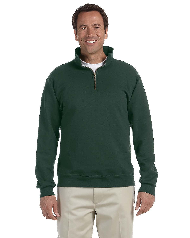 50//50 Super Sweats NuBlend Fleece Quarter-Zip Pullover Jerzees 9.5 oz