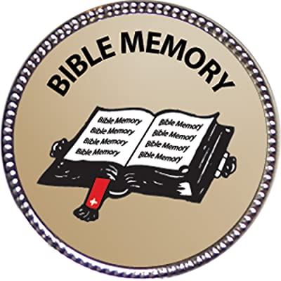 Keepsake Awards Bible Memory - General Award, 1 inch Dia Silver Pin Bible Memory Achievements Collection: Toys & Games