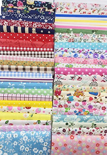 levylisa 200 PCS 4'' x 4''100% Precut Cotton Fabric Bundles, DIY Sewing Quarters Bundle, Cotton Quarter Fabric Bundle, Precut Fabric, Quilting Fabric Bundles, Precut Quilt Kit, Vintage Sheet Supply