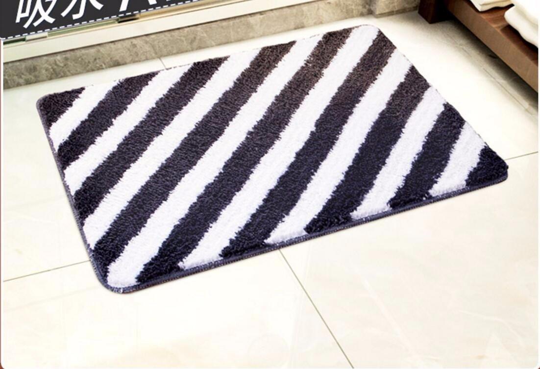 American simplicity stripe floor mats door mats door mats carpets bedroom/kitchen/toilet water-absorbing mat -4565cm c
