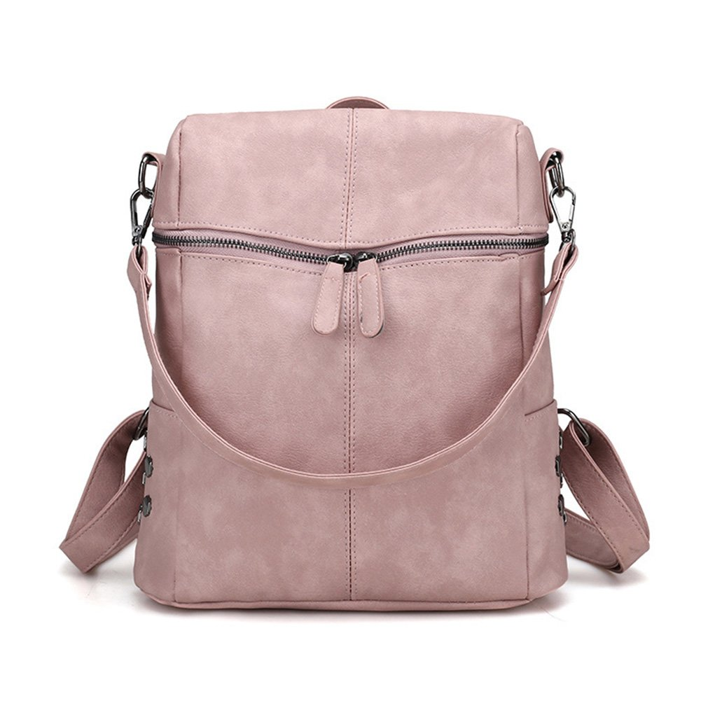 Fashion Backpack, Women Purse Soft PU Leather Ladies Rucksack Shoulder Bag Handbag osierr6