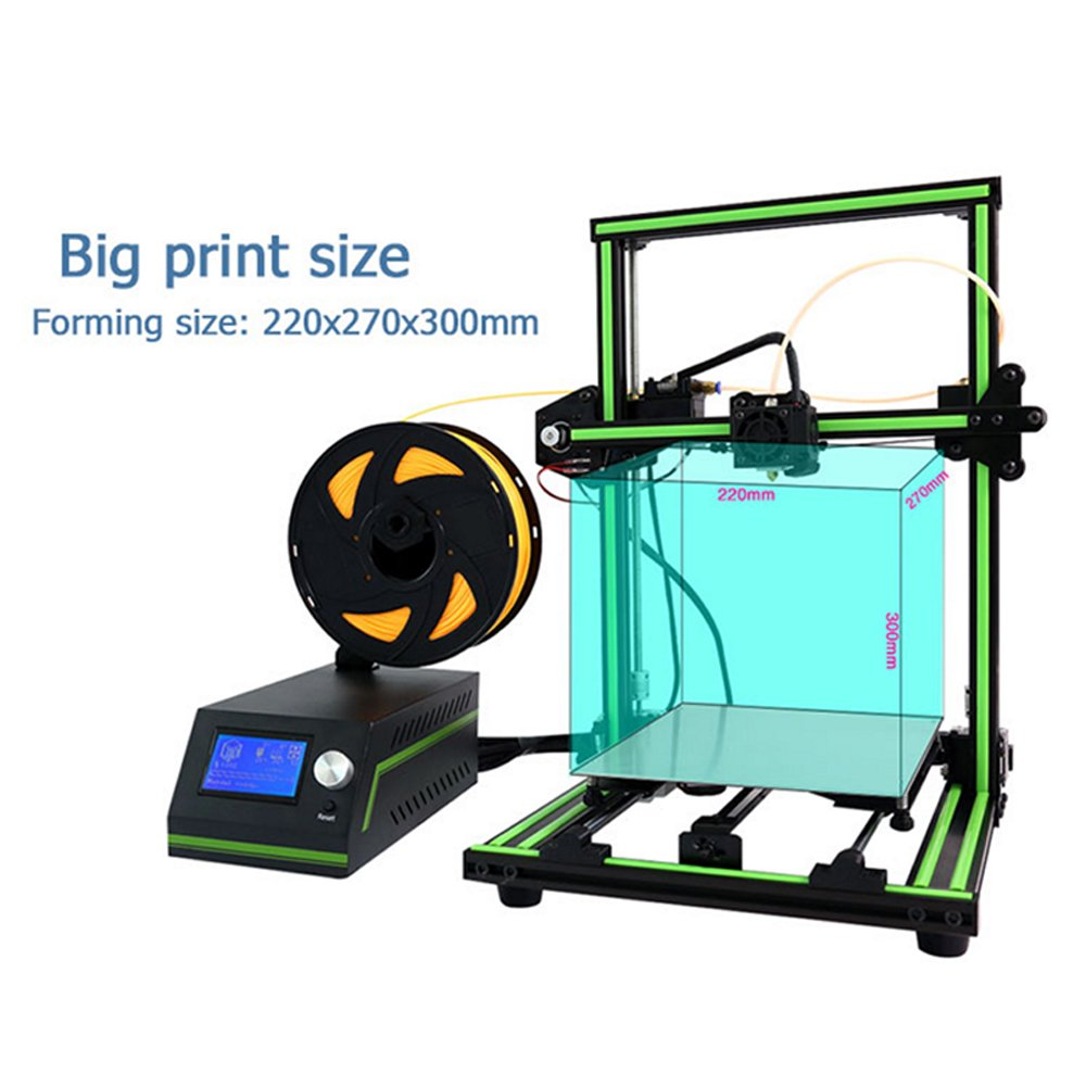 Anet E10 Desktop 3D Printer Aluminum Frame High Precision Reprap 3D Printer DIY Kit Off-line Printing Free 10m Filament
