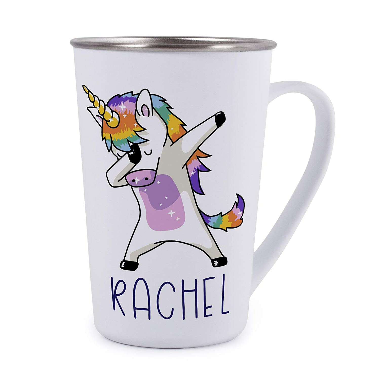 Personalized Gifts Dabbing Unicorn Coffee Mug - 17oz Stainless Steel Tumbler Coffee Mug -Birthday Gifts, Christmas Gifts, Mother's Day Gifts, Father's Day Gifts, Funny Mug for Kids