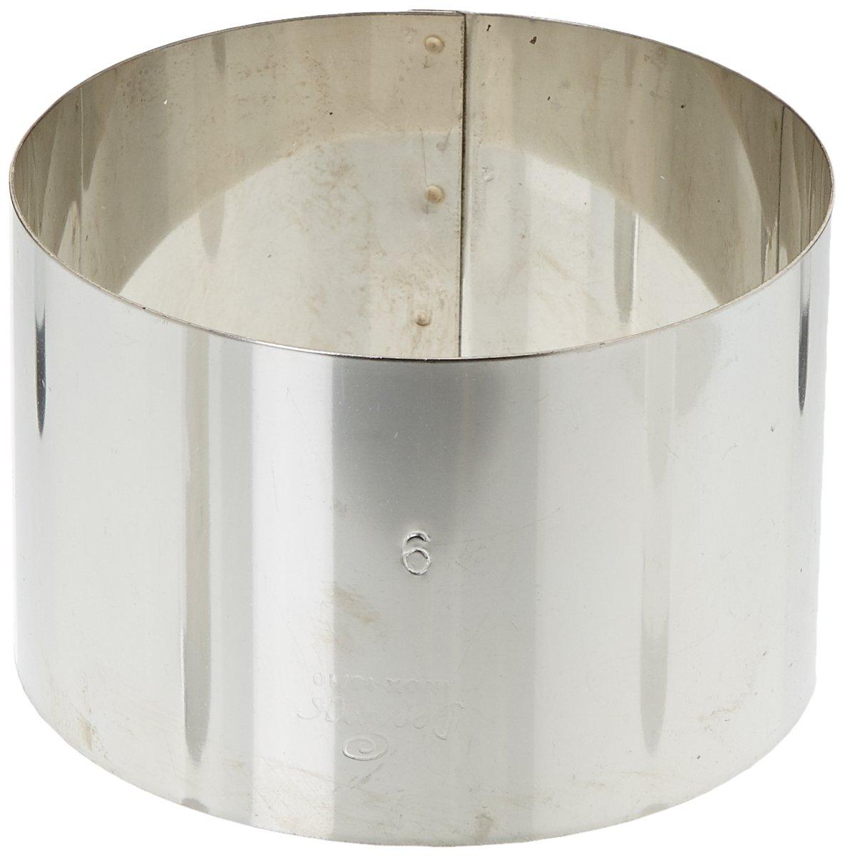 DECORA 0063705 Cerchio Inox 4 x 3 cm, Acciaio Inossidabile, Argento teglie; stampi