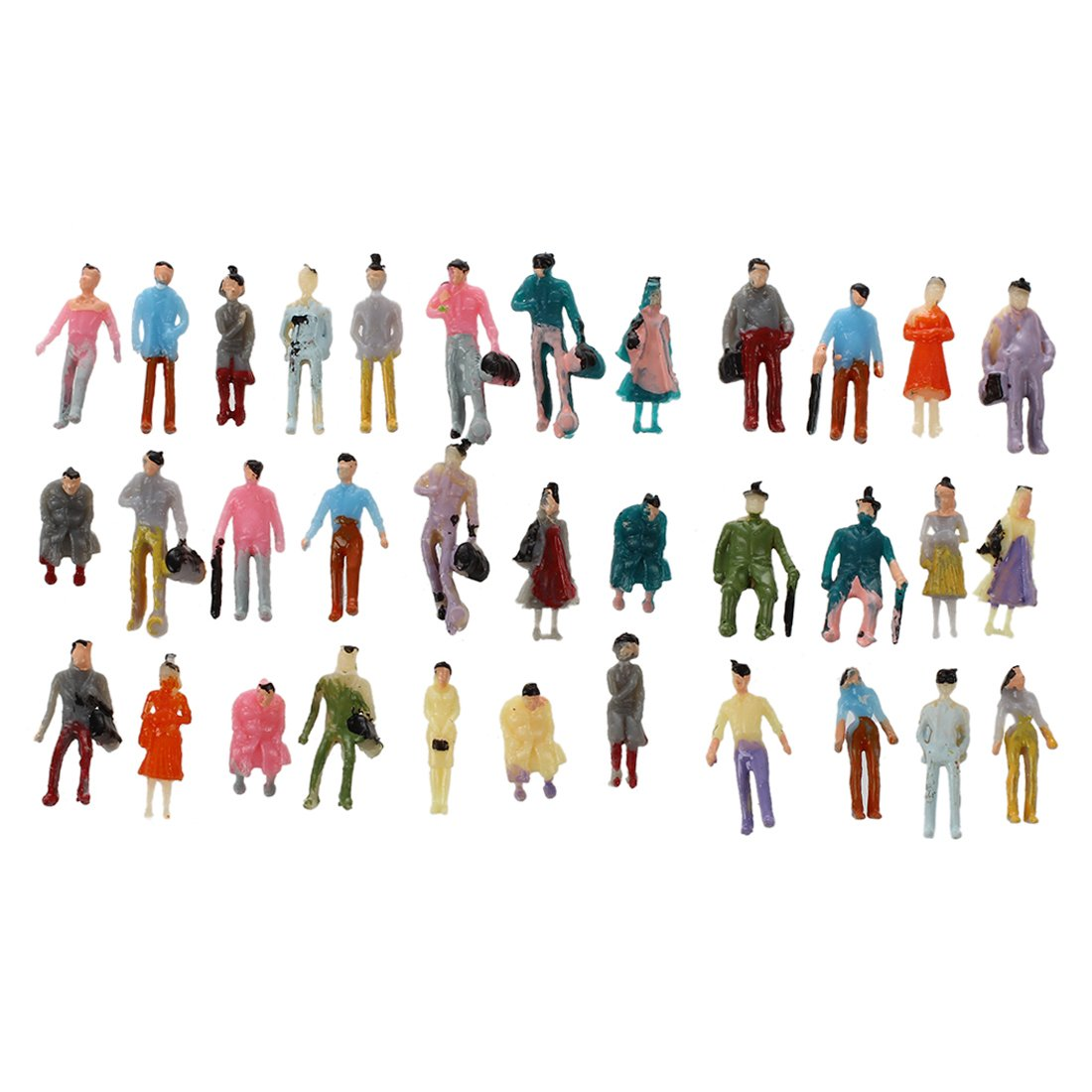 SODIAL R 100pcs Painted Model Train Passenger People Figures Scale 1:150