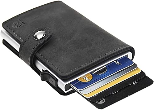 Maxgear Aluminum RFID Credit Card Holder Security Wallet For Women Men Shell
