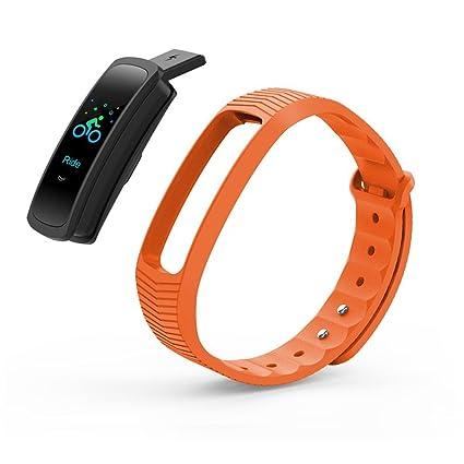 Uhruolo Pulsera Actividad,Monitor De Frecuencia Cardiáco,Pulsera Reloj Inteligente Con Pulsómetro Impermeable,