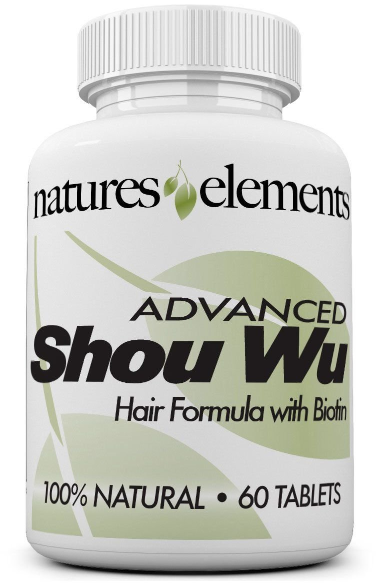 Advanced Shou Wu for Gray Hair - Prepared Chinese Herb Stimulates Hair Growth - 700mg Tablets - All the Benefits of Original He Shou Wu Plus 10 More Hair Nourishing Herbs