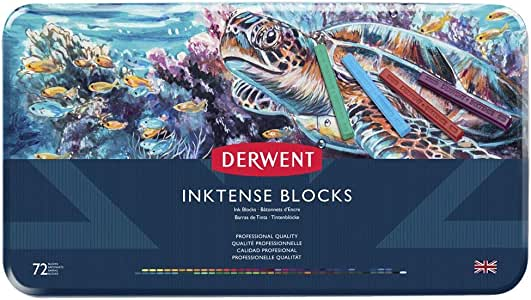 Derwent Inktense Ink Blocks, 72 Count (2301980)