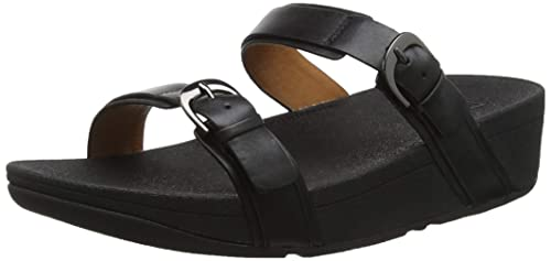 c966e45449 Fitflop Women's Buckle Strap Zoe Slide Open Toe Sandals, (Black 001), 3