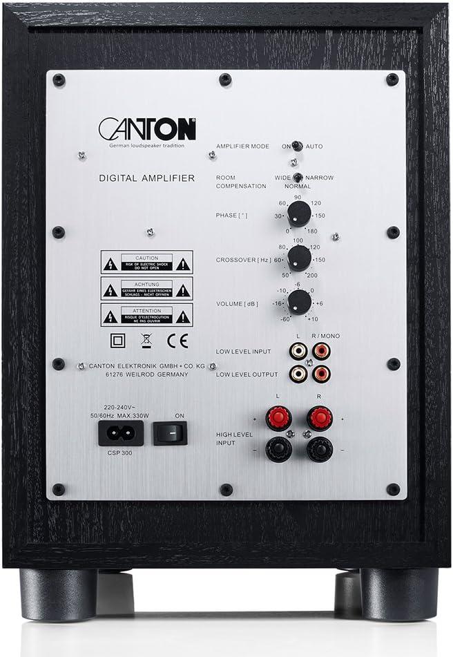 Canton Sub 8 3 Active Subwoofer 200 280 Watt Black Mp3 Hifi
