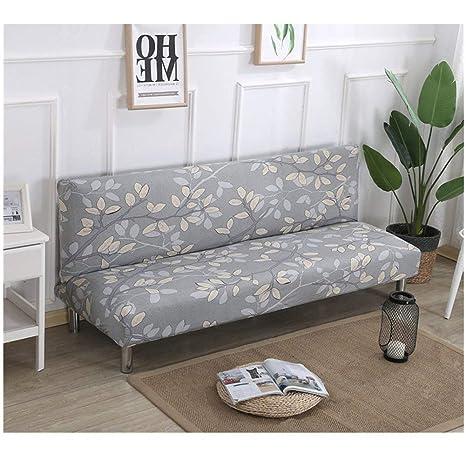 DEEN - Funda Protectora Plegable para sofá o Cama, sin Brazos, elástica, de Licra, Moderna, Simple, para Sala de Estar