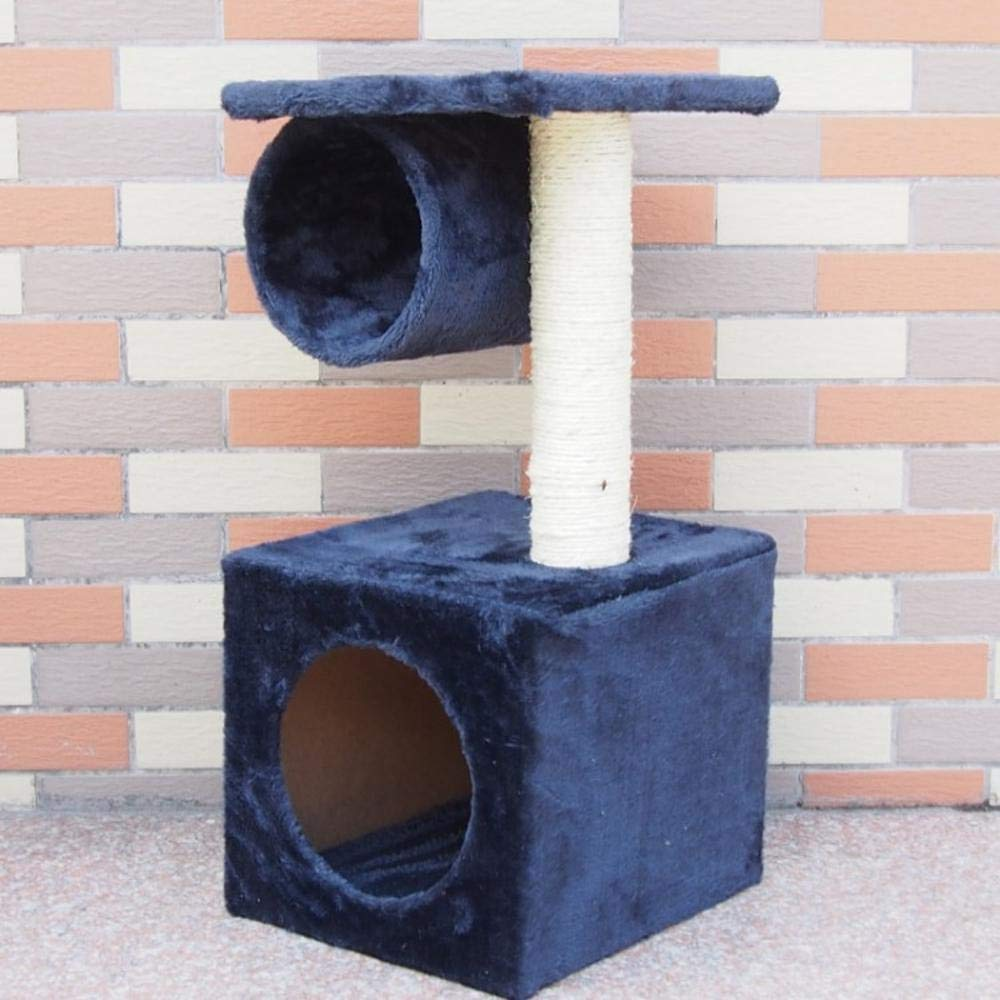 bluee Deluxe Multi Cat Tower Creative Play Towers Trees for Cats Cat Climbing Frame cat Tree cat nest for Sleeping 28cm 25cm  55cm (color   bluee)