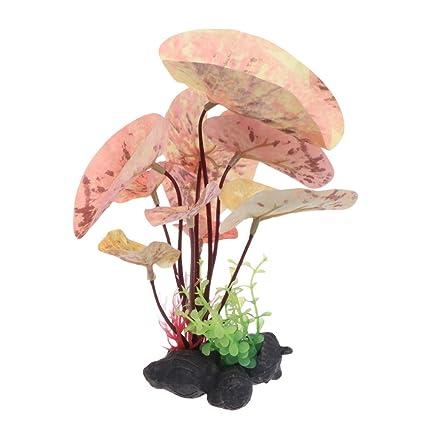 CADANIA Acuario de Plantas acuáticas Decorar Artificial Gran simulación Vívido Tanque de Peces Inicio - B34181