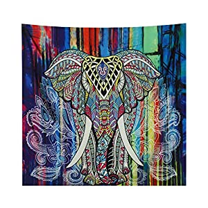 YAMUDA Square Elephant Tapestry Wall Hanging Decor Indian Home Hippie Bohemian Tapestry Elephant