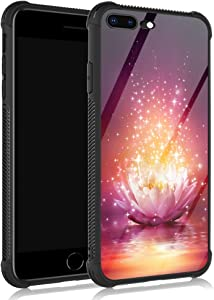 ZHEGAILIAN iPhone SE 2020 Case,Pink Shiny Lotus iPhone 8 Cases for Girls/Women,UNBreak Reinforced Corners Fashoin Back Cover Soft TPU Bumper Frame Full Body Case Designed for iPhone 7/8/SE 2020 Bright