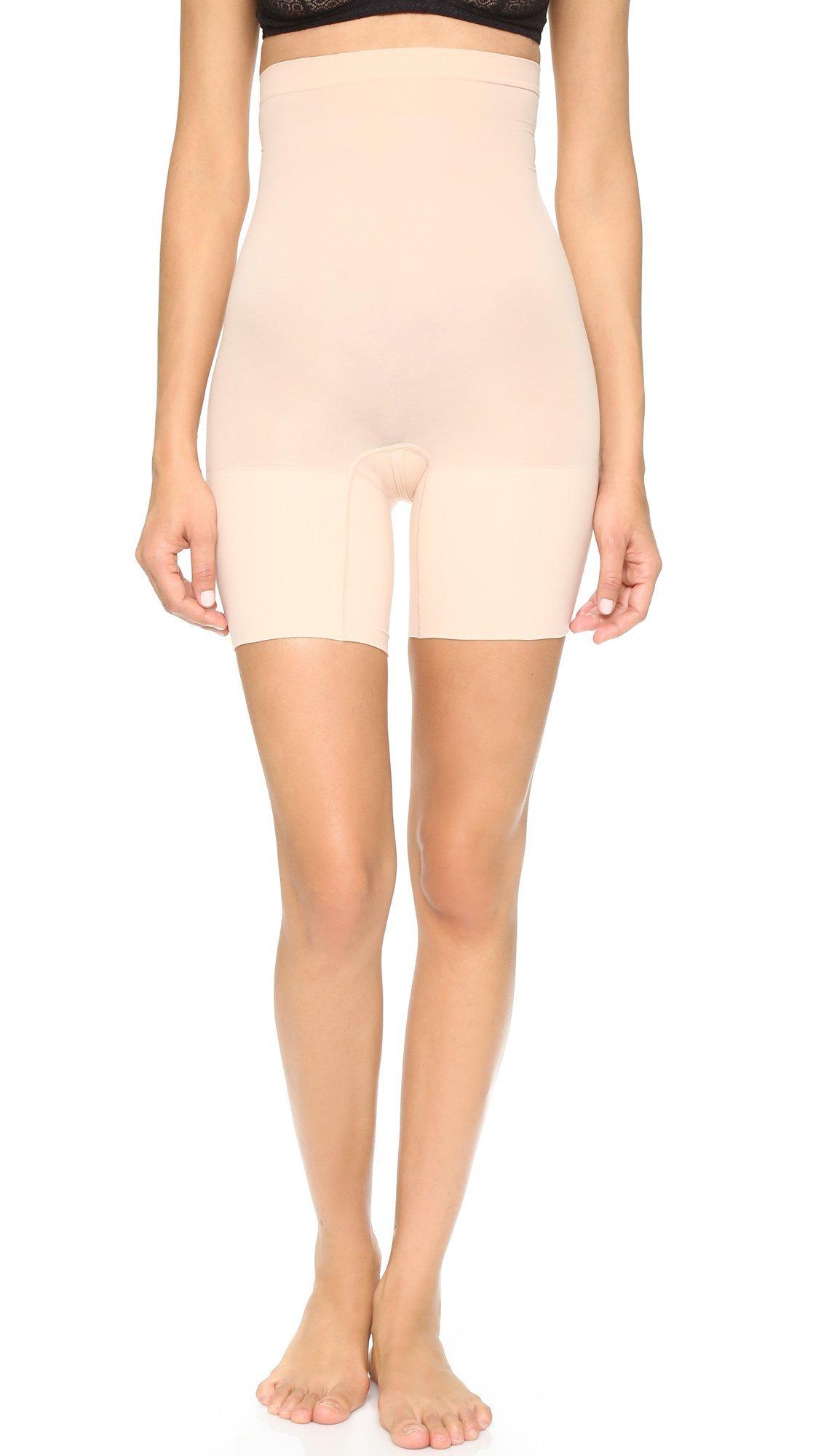 SPANX Women's Higher Power Shorts, Soft Nude, Medium
