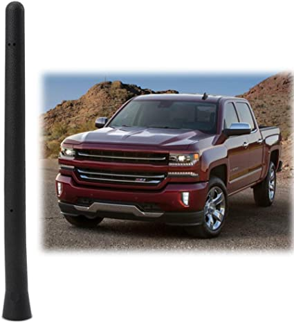 Amazon Com Car Short Antenna Compatible Fit For Chevy Silverado Gmc Sierra 2009 2019 6 3 4 Antenna Replacement Accessories Car Electronics