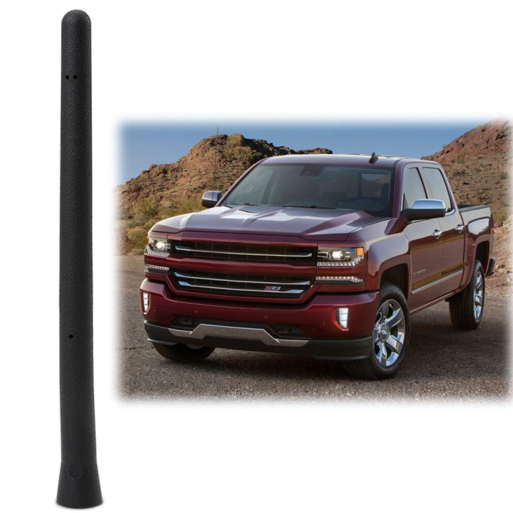 6 3//4 Antenna Replacement Accessories Car Short Antenna Compatible Fit Chevy Silverado GMC Sierra 2009-2019