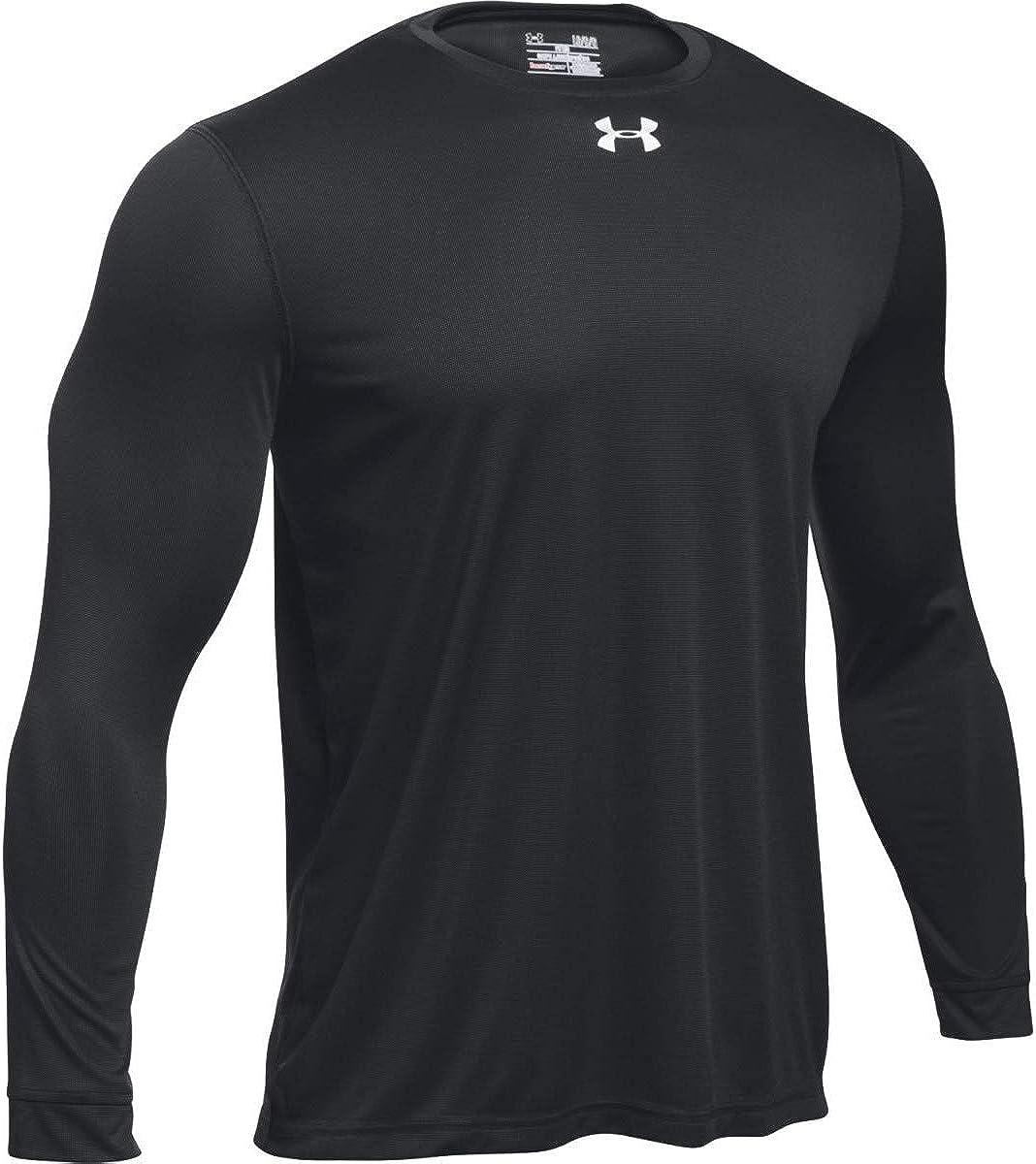 Large, Black Under Armour Mens UA Locker 2.0 Long Sleeve Shirt