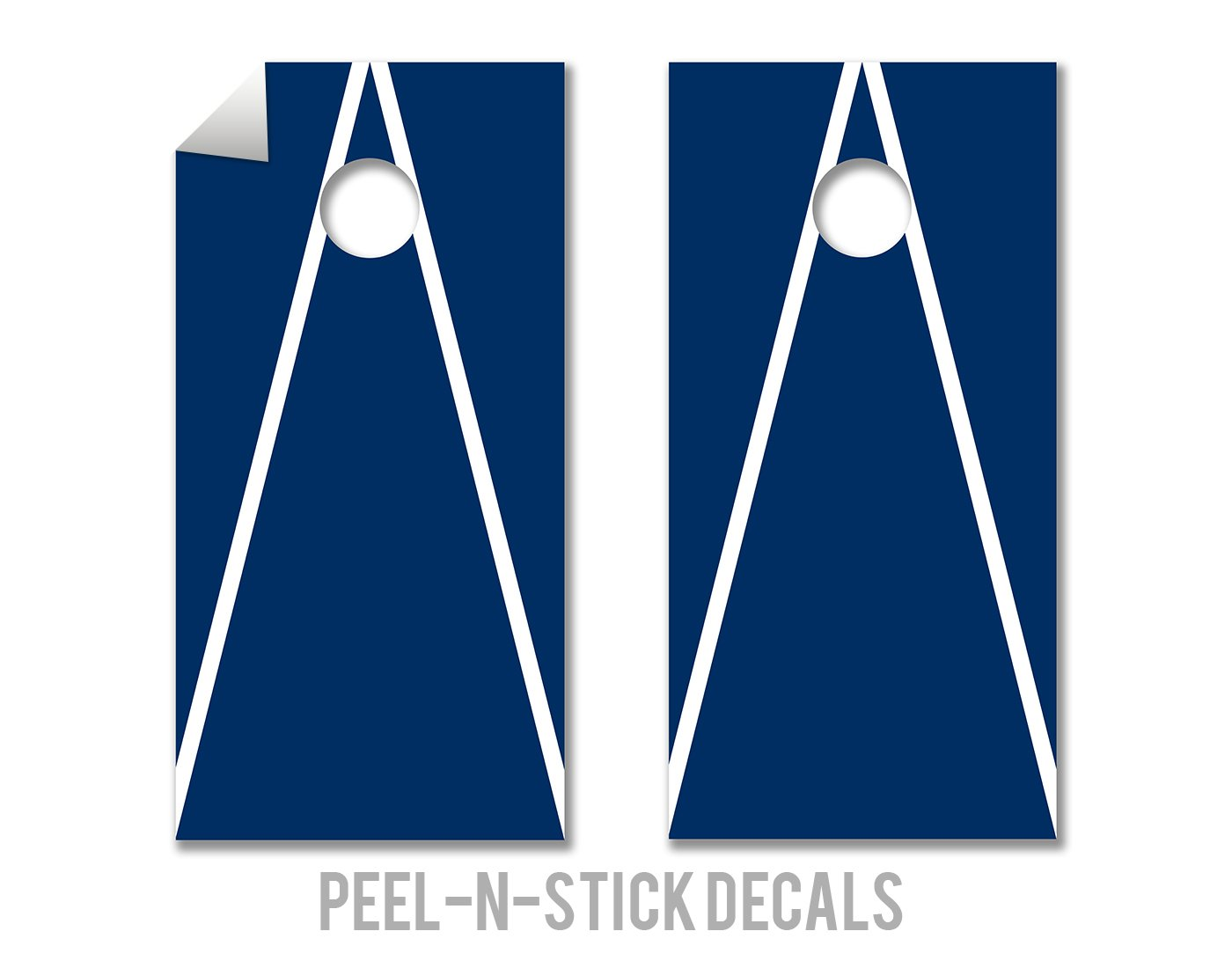 White & Navy - Cornhole Crew - ACA Regulation Size Cornhole Board Decals by The Cornhole Crew