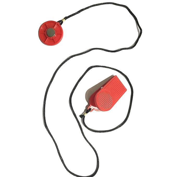 LONTEK Llave de seguridad magnética roja con interruptor redondo ...