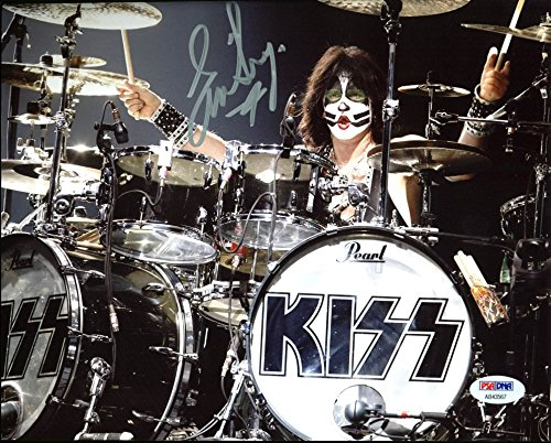 Eric Singer KISS Authentic Signed 8X10 Photo Autographed PSA/DNA #AB43567 by Press Pass Collectibles
