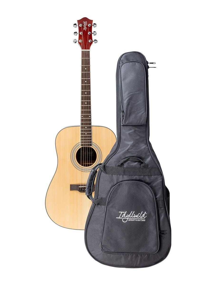 Monoprice 610013 Idyllwild Foothill Acoustic Guitar with Gig Bag, Vintage Sunburst