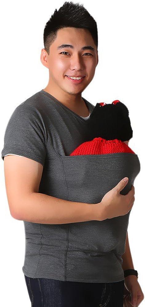 Marolaya Kangaroo Dad Multi-Functional Clothes Round Neck Casual T-Shirt Menswear