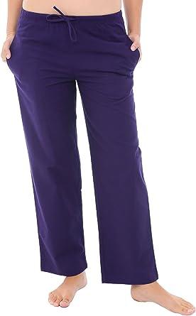 Amazon Com Alexander Del Rossa Pantalones De Franela De Pijama Para Mujer Pantalones Largos De Algodon De Pijama Clothing